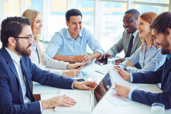 Discussing business plans Royalty Free Stock Photo