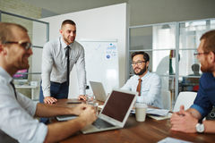 Discussing business project Royalty Free Stock Photo