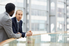 Discussing business terms Stock Image