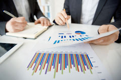 Discussing chart Stock Image