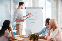 Discussing company progress. Royalty Free Stock Photo