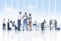 Discussing in the Conference Room Royalty Free Stock Images