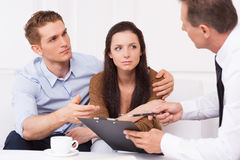 Discussing contract. Stock Photo
