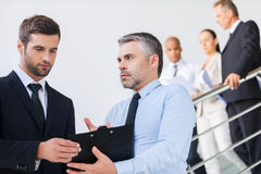 Discussing contract. Stock Image