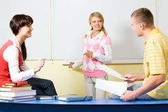 Discussing Homework Stock Images