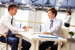 Discussing ideas Stock Photography