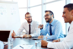 Discussing ideas Stock Photos
