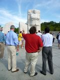 Discussing the Martin Luther King Memorial Stock Image