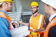 Discussing new construction Stock Photos