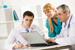 Discussing new ideas Royalty Free Stock Photo