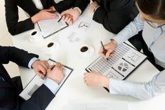 Discussing plan Stock Photos