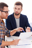 Discussing project. Stock Photography