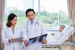 Discussing x-ray Stock Photos