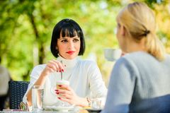 Free Discussing Rumors. Trustful Communication. Friendship Sisters. Friendship Meeting. Closest People. Girls Friends Drink Royalty Free Stock Image - 154547366
