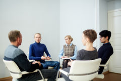 Discussing troubles Royalty Free Stock Photo