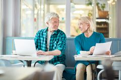 Discussing working moments royalty free stock image