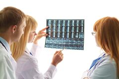 Discussing x-ray Royalty Free Stock Images
