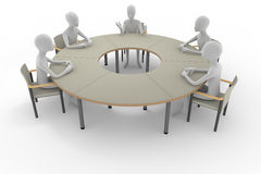 Discussion. In the office. A heated debate. A business meeting. Person to consult Stock Photo