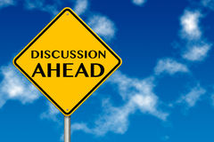 Discussion Ahead traffic sign Royalty Free Stock Images