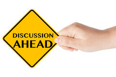 Discussion Ahead Sign Stock Photos