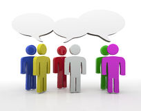 Discussion, blank speech bubbles Royalty Free Stock Photography