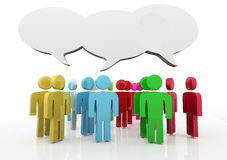 Discussion, blank speech bubbles Stock Images