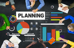 Discussion Concep de séance de réflexion de stratégie de planification de groupe d'affaires Image stock