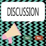 Discussion conceptuelle d'apparence d'écriture de main Processus des textes de photo d'affaires de parler de quelque chose afin d illustration libre de droits