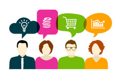 Discussion d'affaires Photo stock