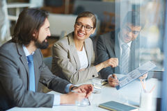Discussion of data Stock Image