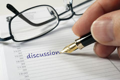 Discussion date Royalty Free Stock Images