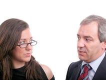 Discussion de couples Photos libres de droits