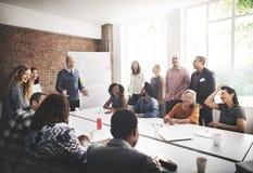 Discussion de réunion parlant partageant le concept d'idées photographie stock