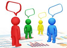 Discussion. Talking community communication three-dimensional shape internet speech bubble royalty free illustration