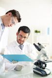Discussion of experiment Stock Image