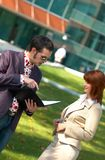 Discussion extérieure 4 Photo stock