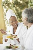 Discussion On Food Time Royalty Free Stock Photo
