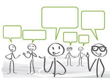 Discussion. A group of lively discussion stock illustration
