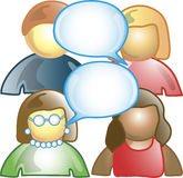 Discussion Icon. Icon of several people talking Royalty Free Stock Images