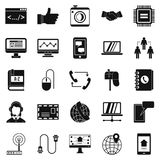 Discussion icons set, simple style. Discussion icons set. Simple set of 25 discussion vector icons for web isolated on white background Royalty Free Stock Photos