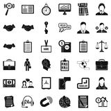 Discussion Icons Set, Simple Style Stock Images