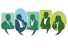 Discussion. A meeting and discussion concept illustration royalty free illustration