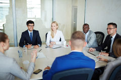 Discussion at meeting Stock Photography
