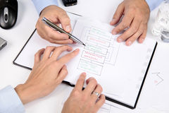 Discussion about negotiations strategy Stock Images