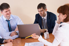 Discussion in the office Stock Images