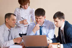 Discussion in the office Royalty Free Stock Photo