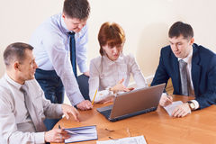Discussion in the office Stock Photos