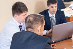 Discussion in the office Royalty Free Stock Photography