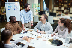 Discussion in office Stock Photography