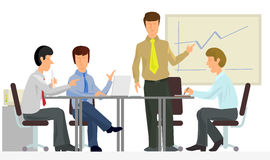 Discussion in office. Vector illustration of a discussion in office Stock Photo